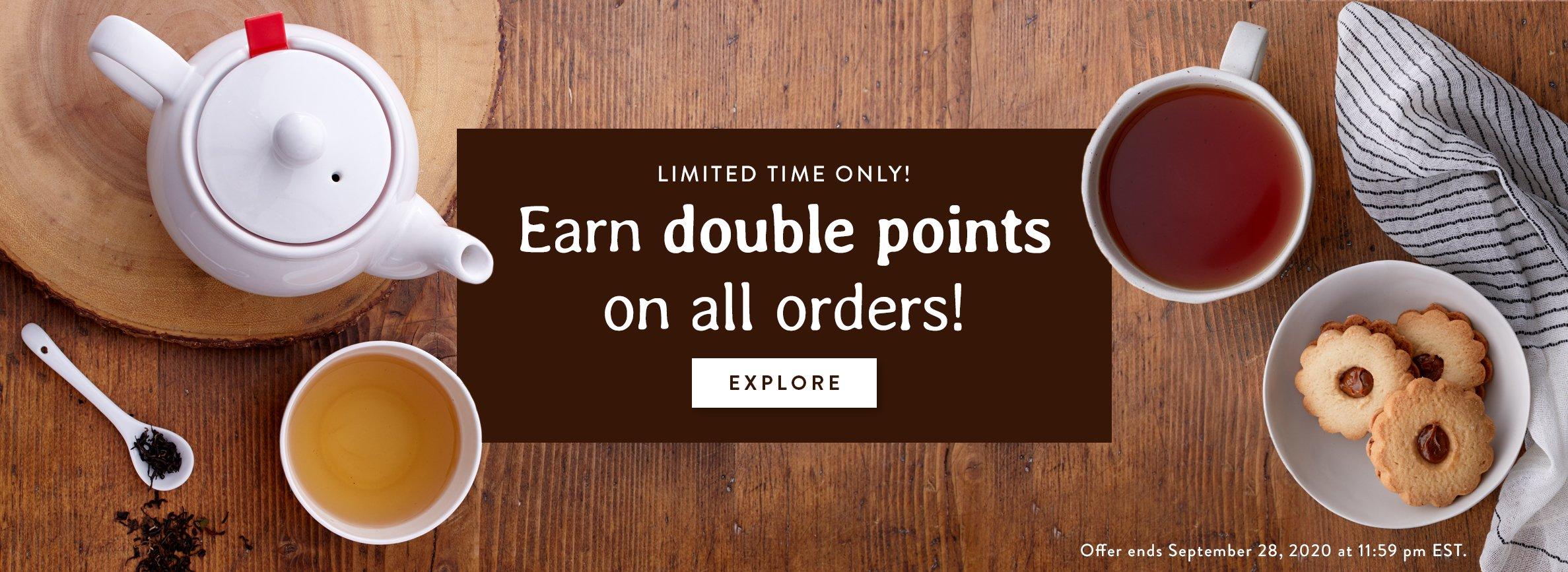 Earn Double Points!