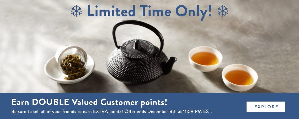 Upton Tea Double Points Promo