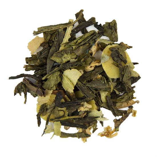 Almond loose leaf green tea