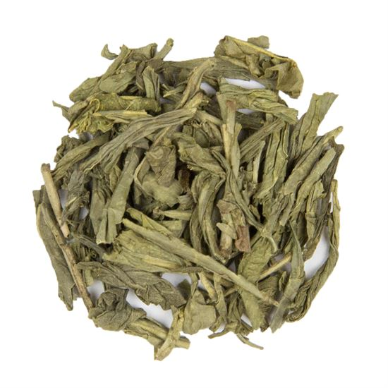 Decaffeinated China loose leaf green tea