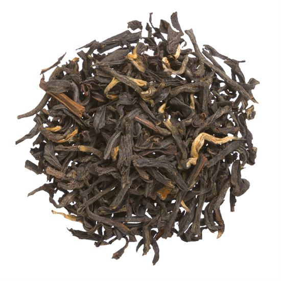 China organic loose leaf black tea