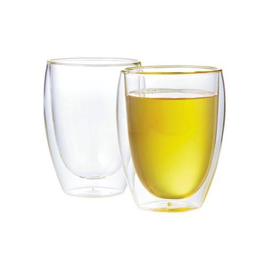 Pavina Double Wall Glass Cups, 12-oz. (Set of 2)
