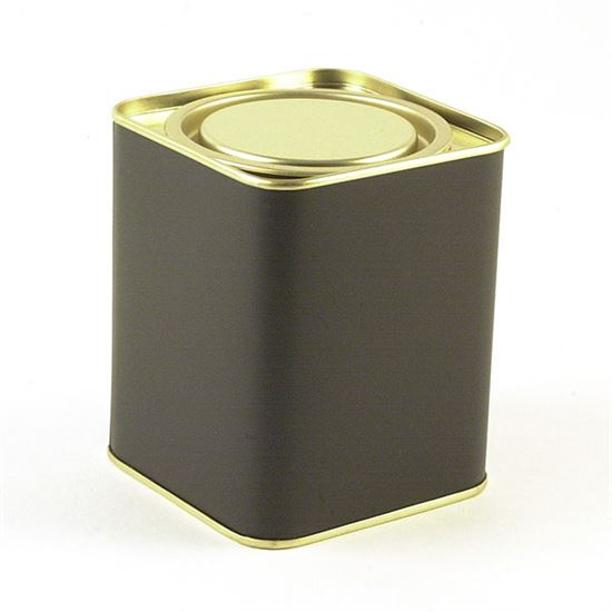 4 oz. Black Plug-top Tin with lid