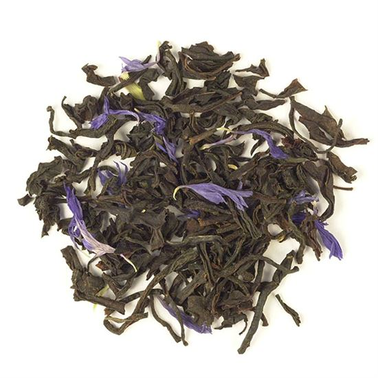 Loose leaf blue flower Earl Grey tea