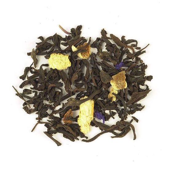 decaffeinated flavored loose leaf black tea