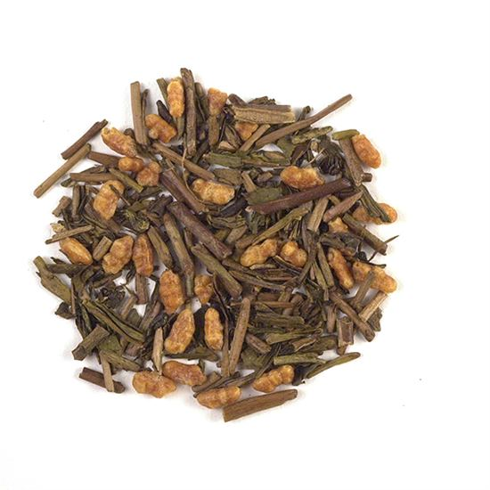 loose leaf Japanese toasted rice twig tea