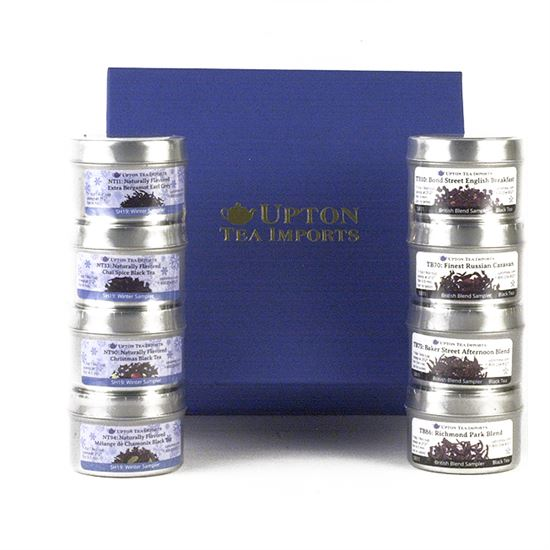 loose leaf tea and honey gift set