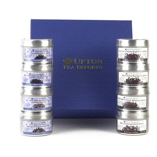 loose leaf tea and honey gift set