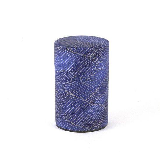 decorative washi paper tea tin