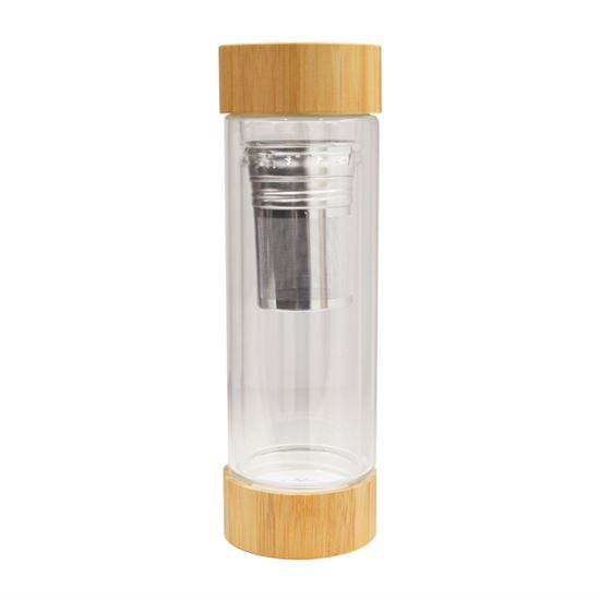 glass and bamboo tumbler