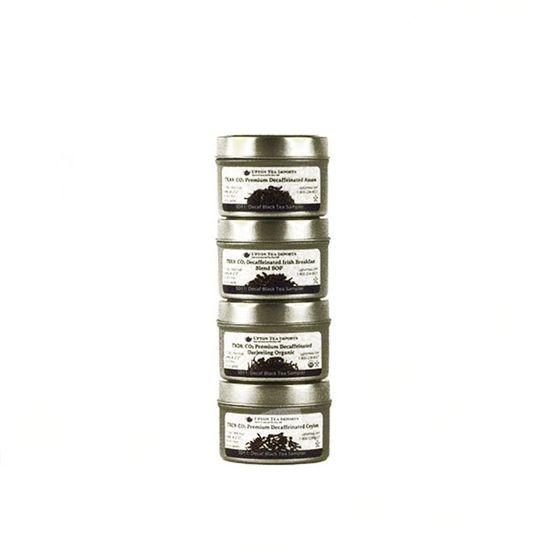 loose leaf decaffeinated tea sampler set